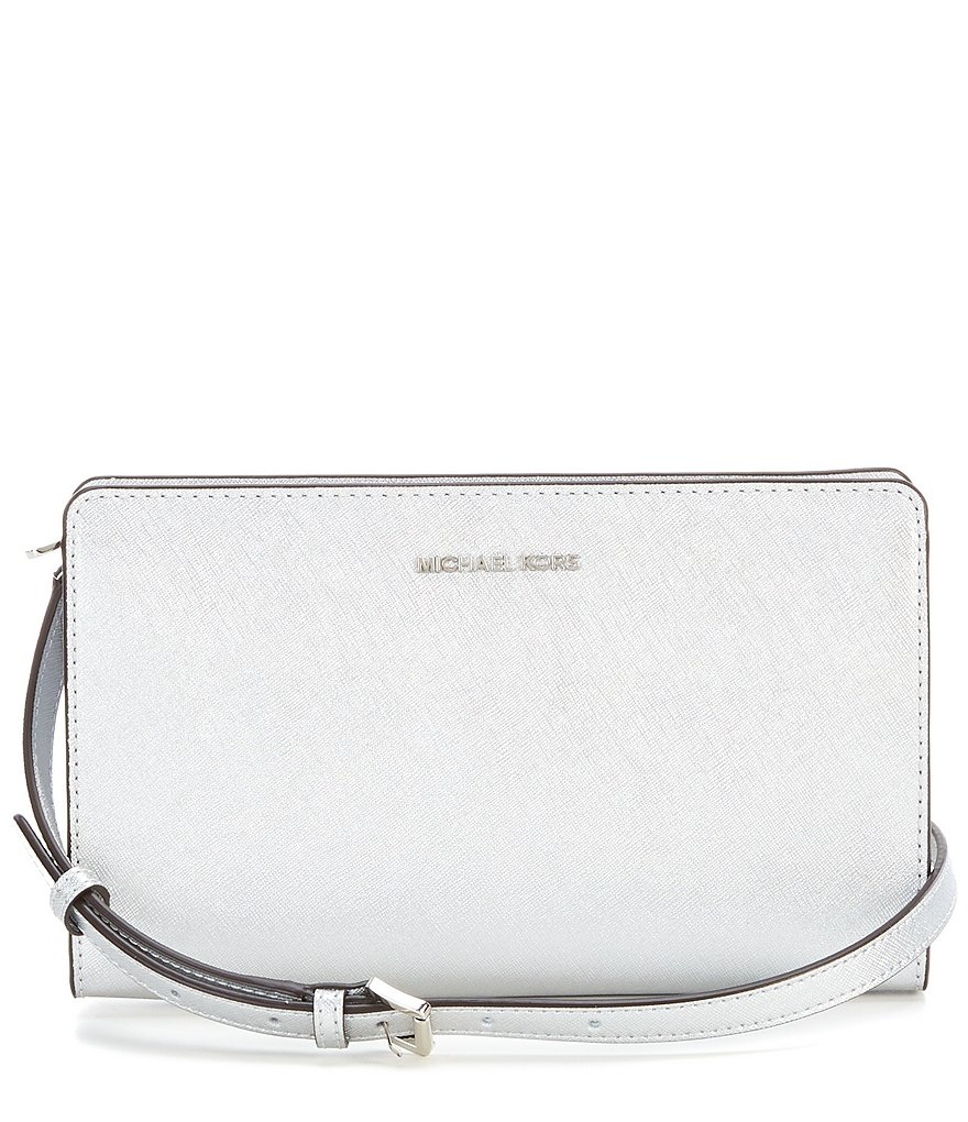 MICHAEL Michael Kors Jet Set Metallic Large Cross-Body Clutch