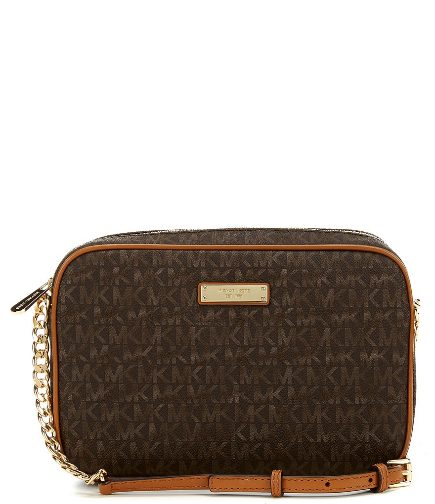 Michael Kors Jet Set Signature Cross Body Bag