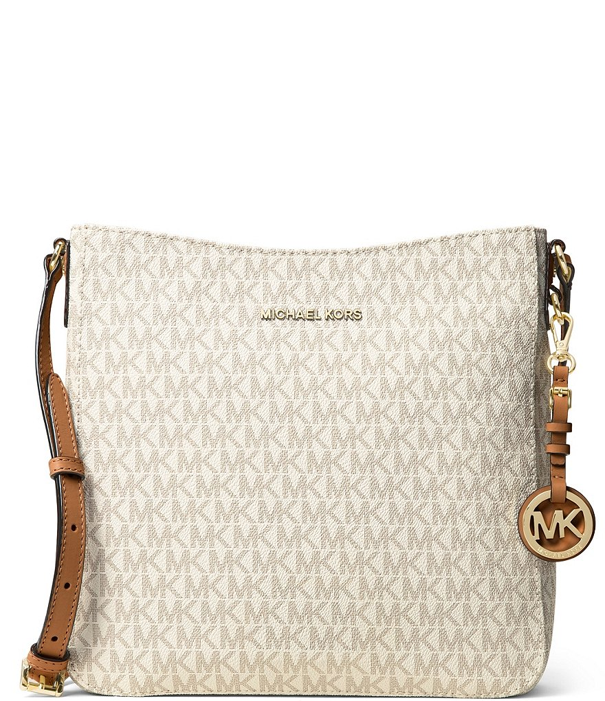 huge selection of 7cb20 45572 MICHAEL Michael Kors Jet Set Signature Large Crossbody   Dillard s
