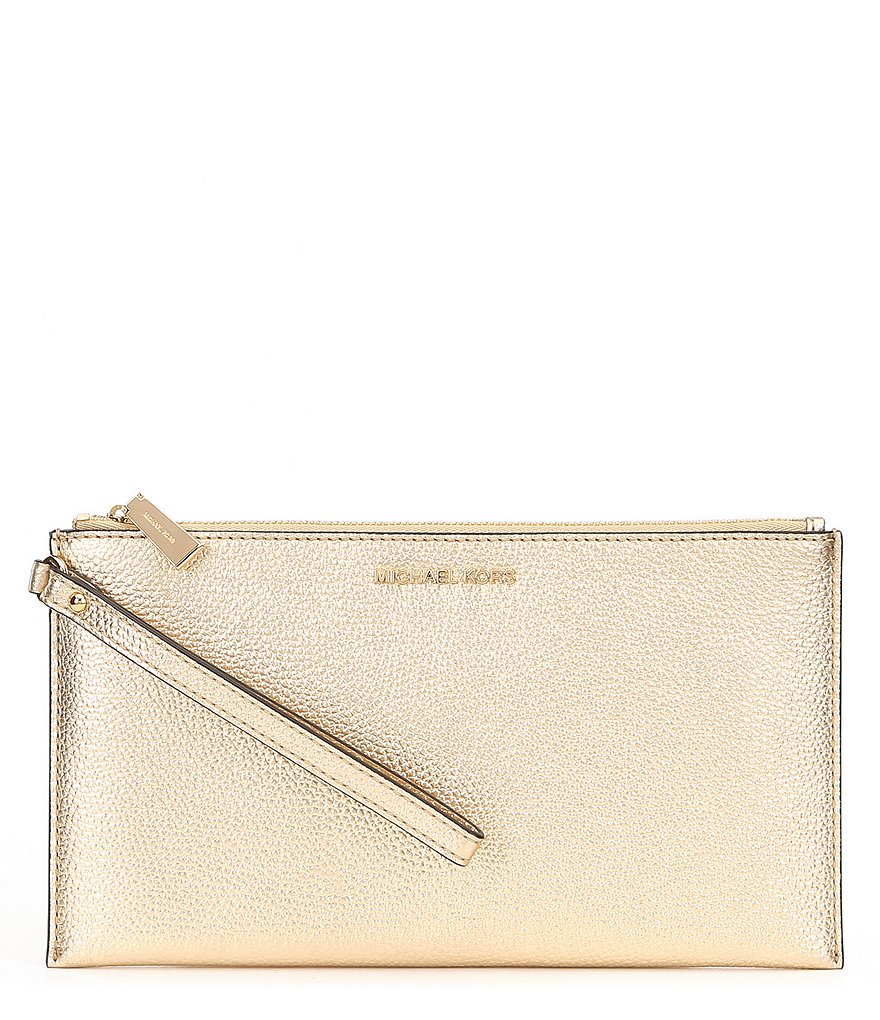 MICHAEL Michael Kors Metallic Large Zip Clutch