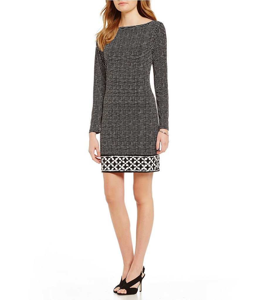 MICHAEL Michael Kors Nezla Border Print Matte Jersey Dress