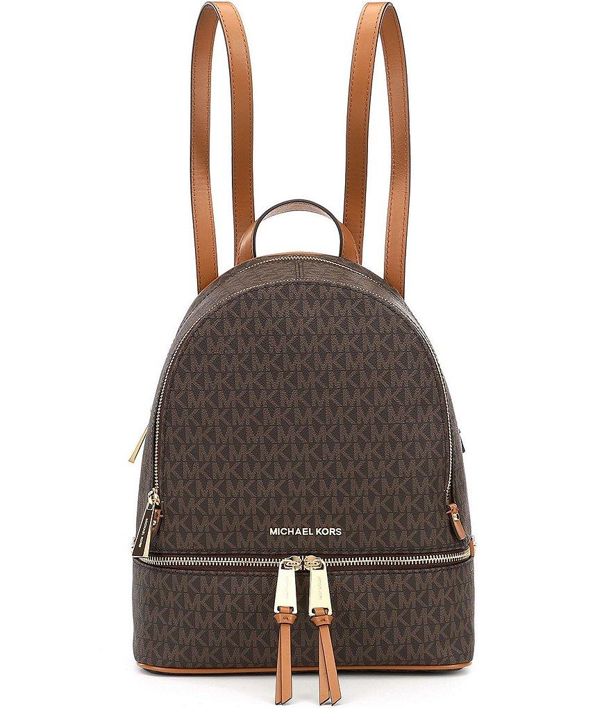 michael michael kors rhea signature medium backpack dillard s rh dillards com
