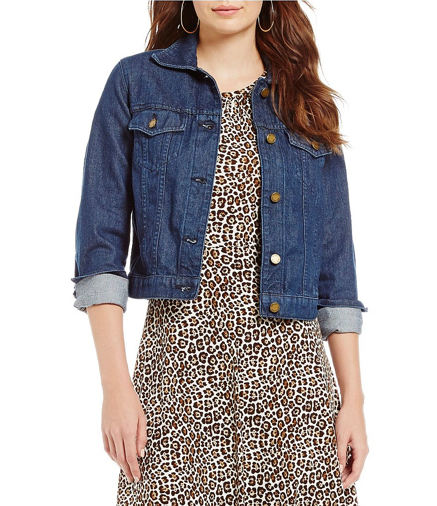 MICHAEL Michael Kors Rinse Wash Denim Jean Jacket