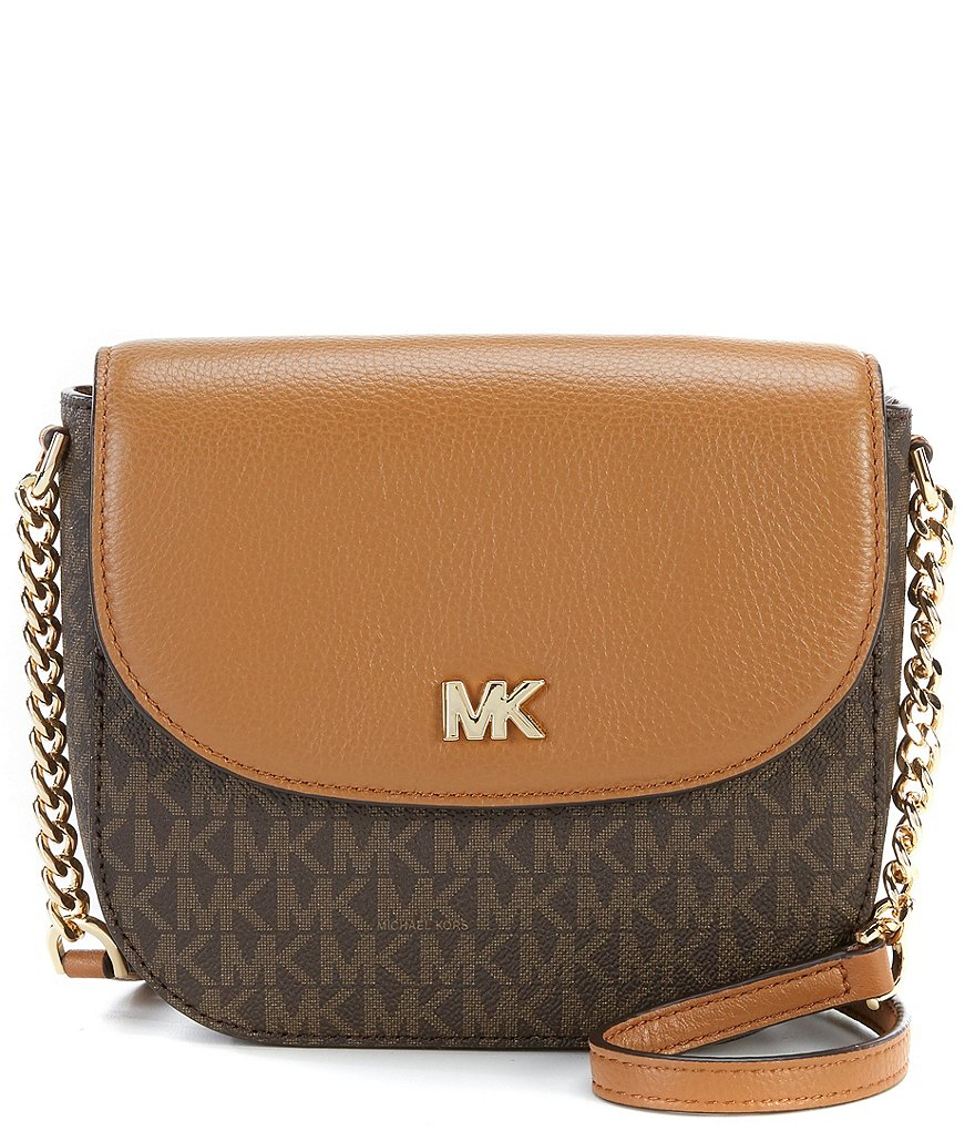 Michael Kors Signature Half Dome Cross Body Colorblock Bag