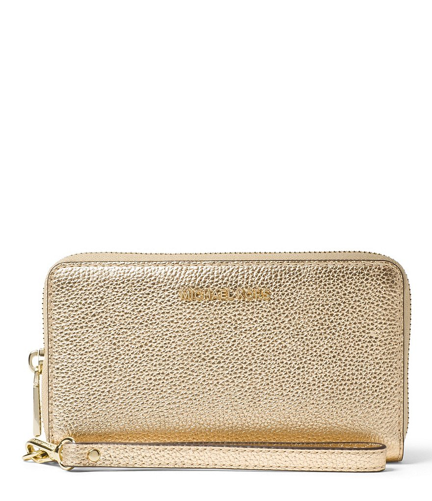 MICHAEL Michael Kors Studio Metallic Large Multifunction Phone Wallet