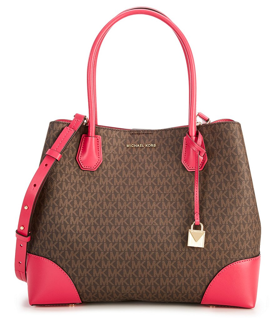 MICHAEL Michael Kors Mercer Gallery Signature Large Center-Zip Tote
