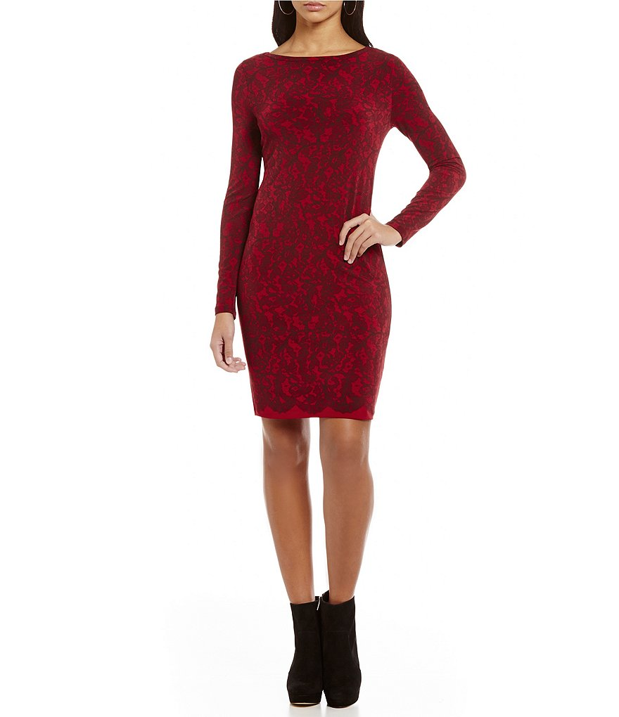 MICHAEL Michael Kors Umbria Lace Print Matte Jersey Sheath Dress