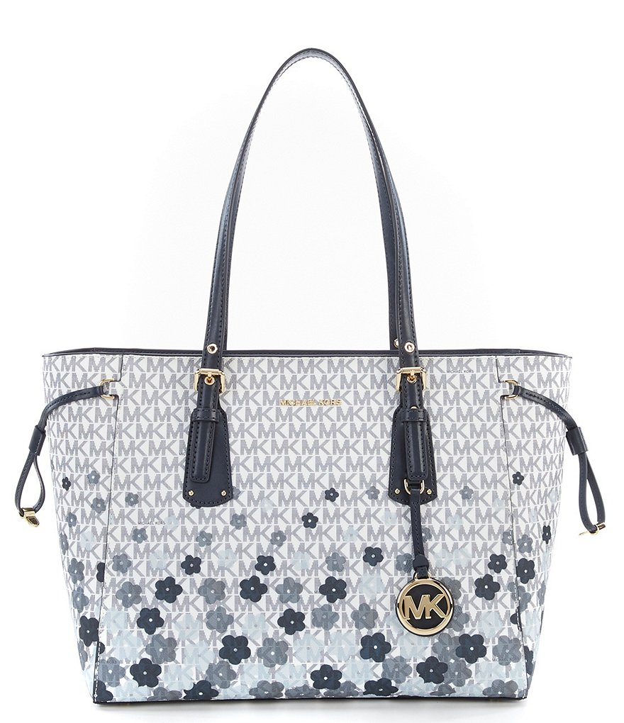 MICHAEL Michael Kors Voyager Signature Floral Multifunction Tote