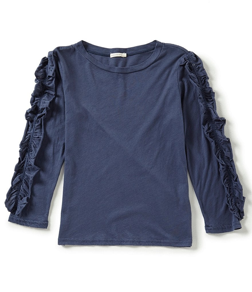 Michelle by Comune Big Girls 7-16 Cadwell Jersey Ruffled Knit Top