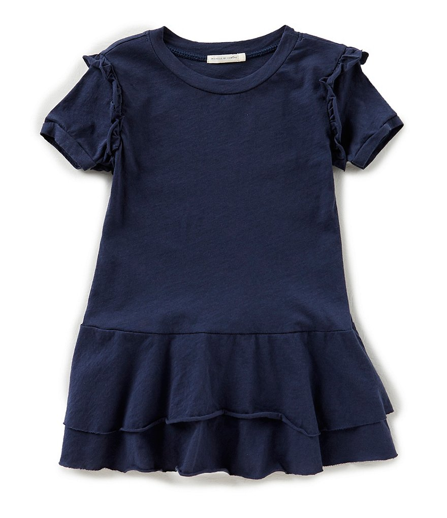 Michelle by Comune Little Girls 2-6X Alison Ruffle-Sleeve Knit Dress