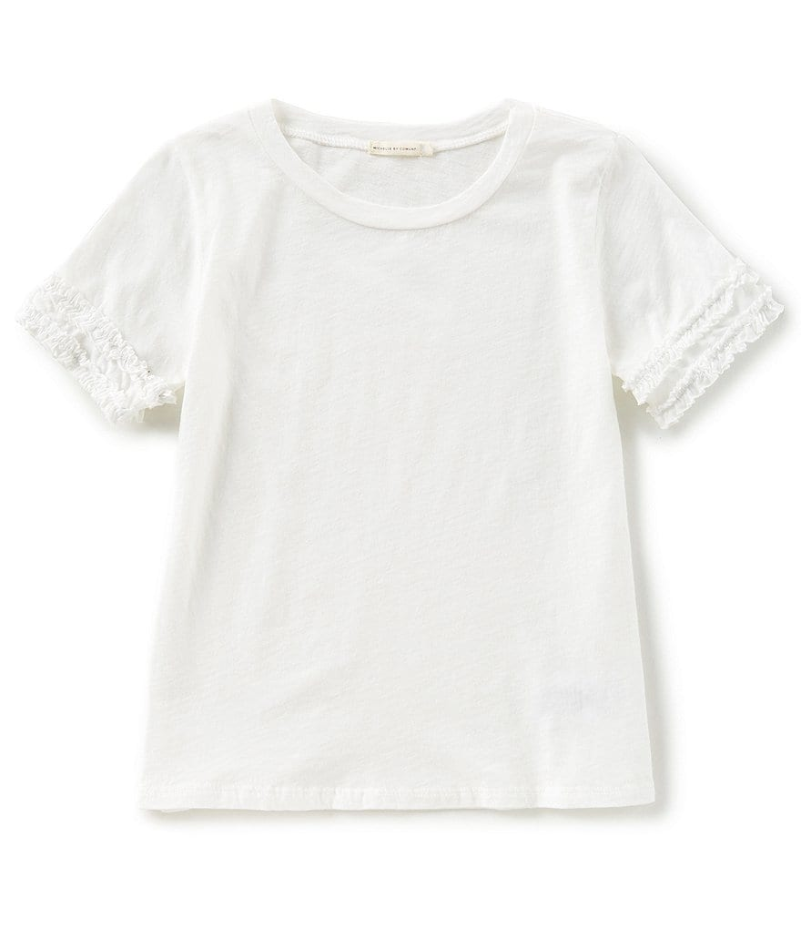 Michelle by Comune Little Girls 2-6X Sally Ruffle Short-Sleeve Top