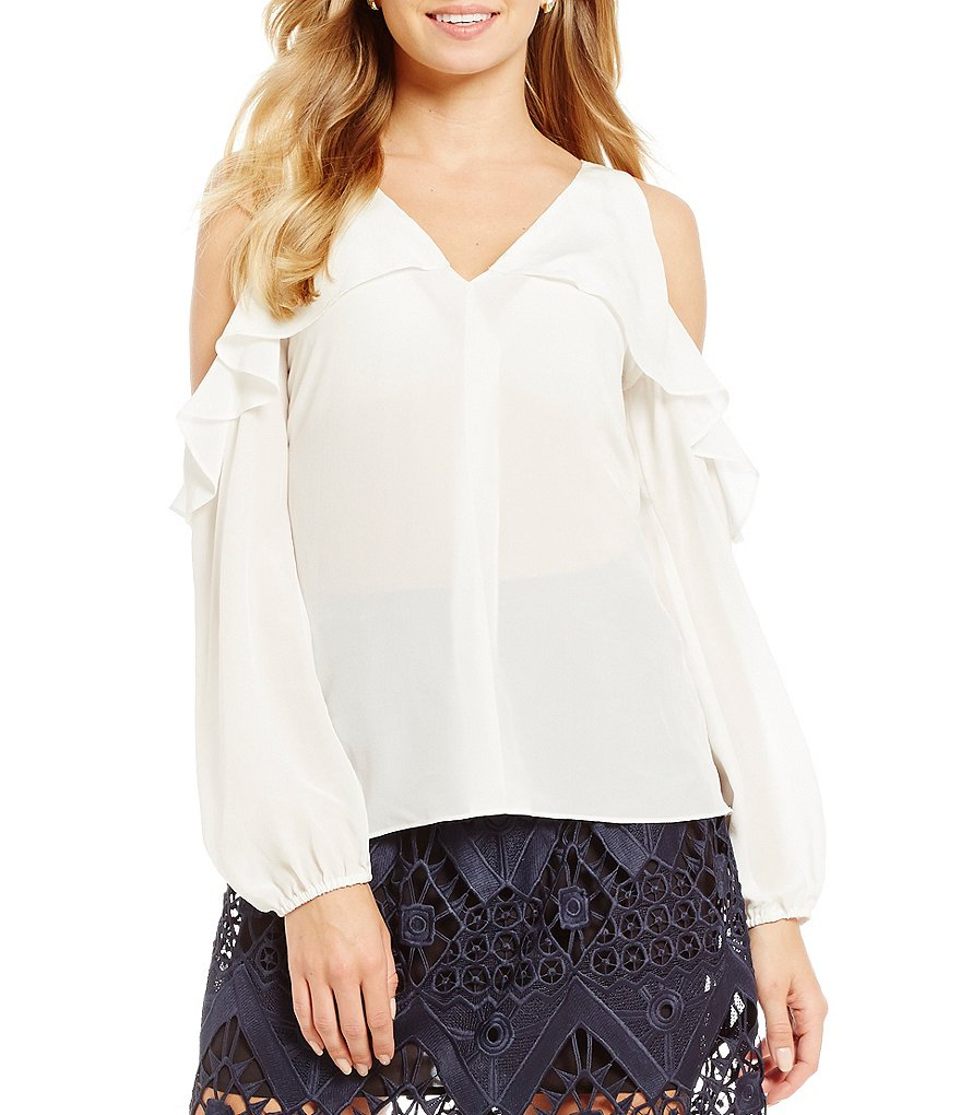 Mika Mindel Vienna Silk Cold Shoulder Blouse