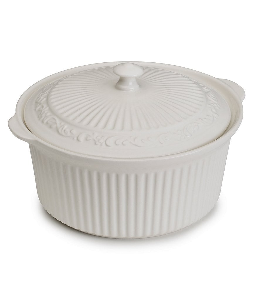 Mikasa Italian Countryside Accents Scroll Stoneware Covered Casserole