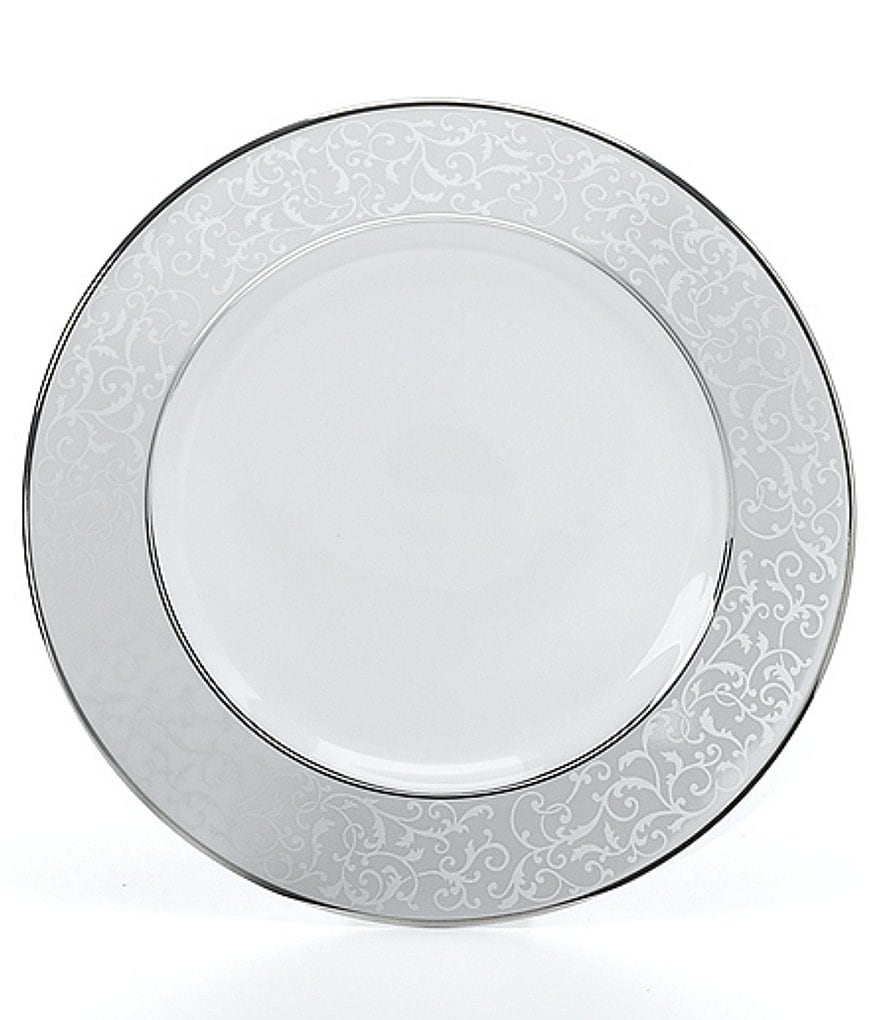 Mikasa Parchment Ivy Scroll Platinum Porcelain Bread & Butter Plate