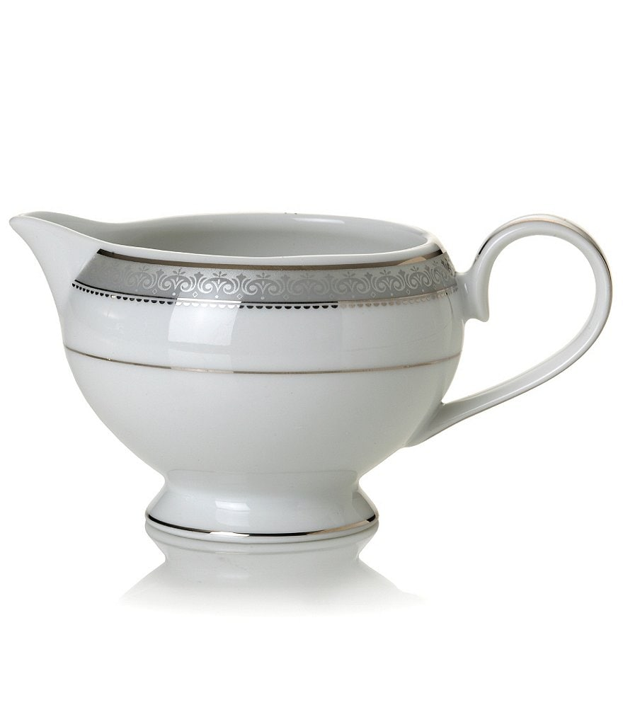Mikasa Platinum Crown Filigree Platinum Porcelain Creamer