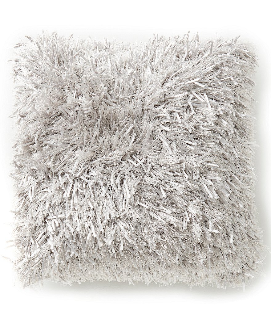 Mina Victory by Nourison Silky Shag Faux-Fur Pillow