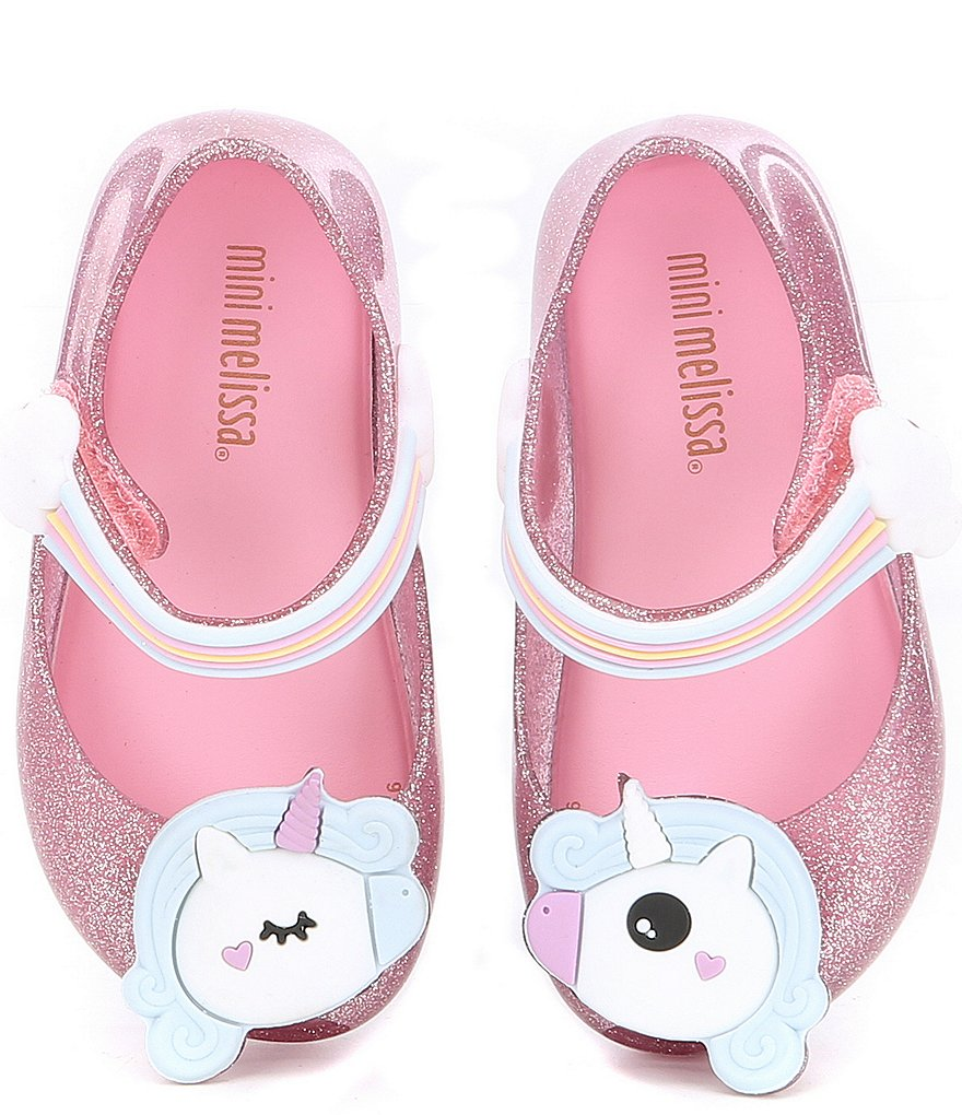 c8b9b4d04c6af Mini Melissa Girls  Unicorn Ultragirl Mary Janes