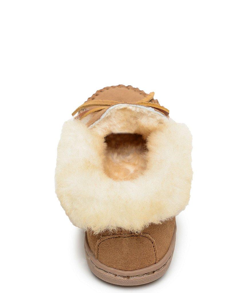 le daim alpin les pantoufles de mouton mouton mouton de minnetonka fe3928
