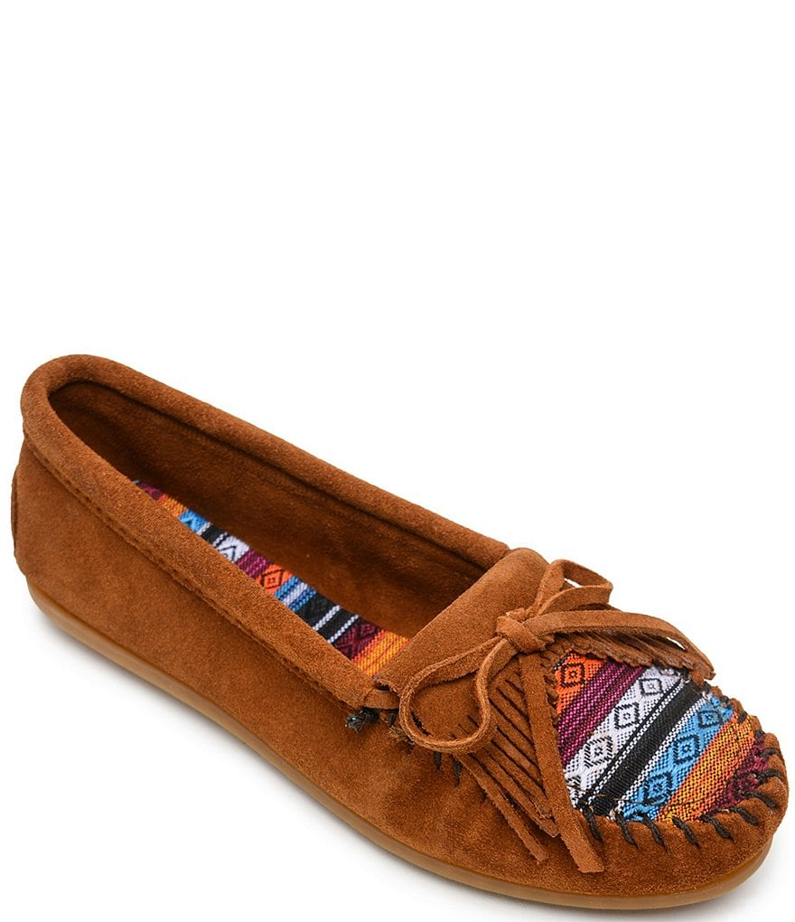 Minnetonka Kilty Arizona Suede Moccasins