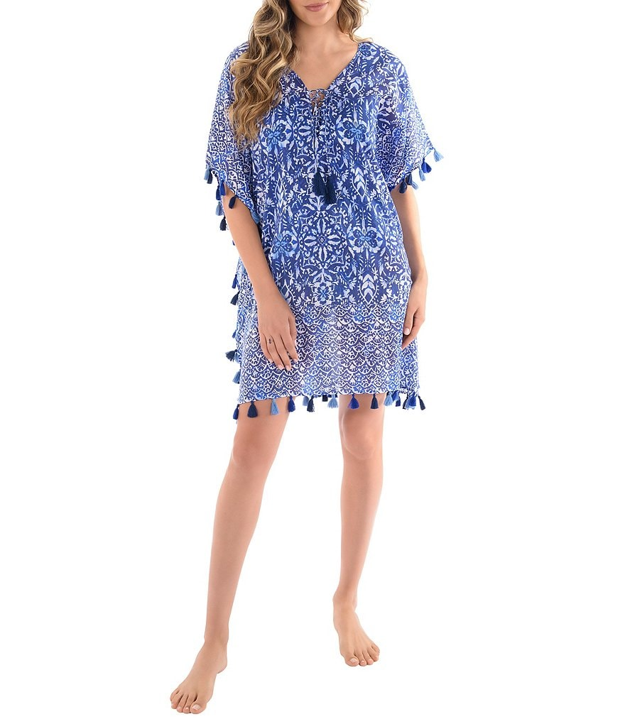 Miraclesuit Majorca Caftan Swimsuit Cover-Up