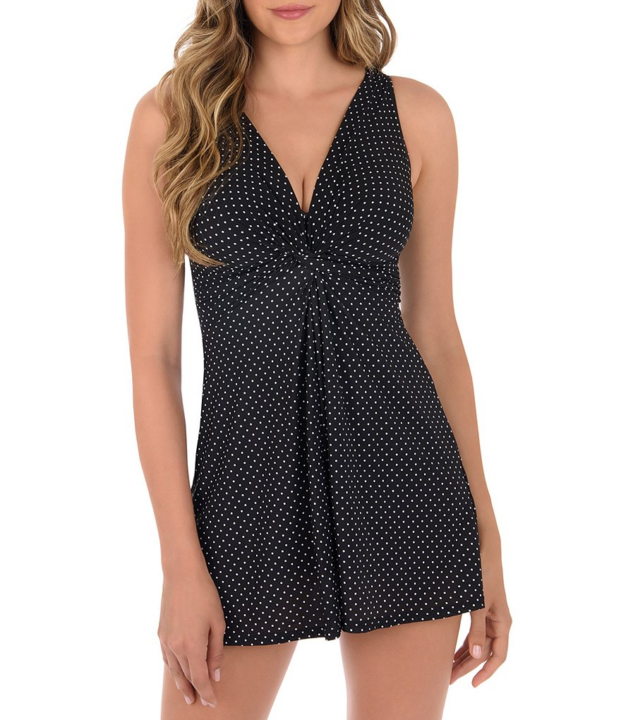 Miraclesuit Pin Point Marais Tummy Control One-Piece Swimdress
