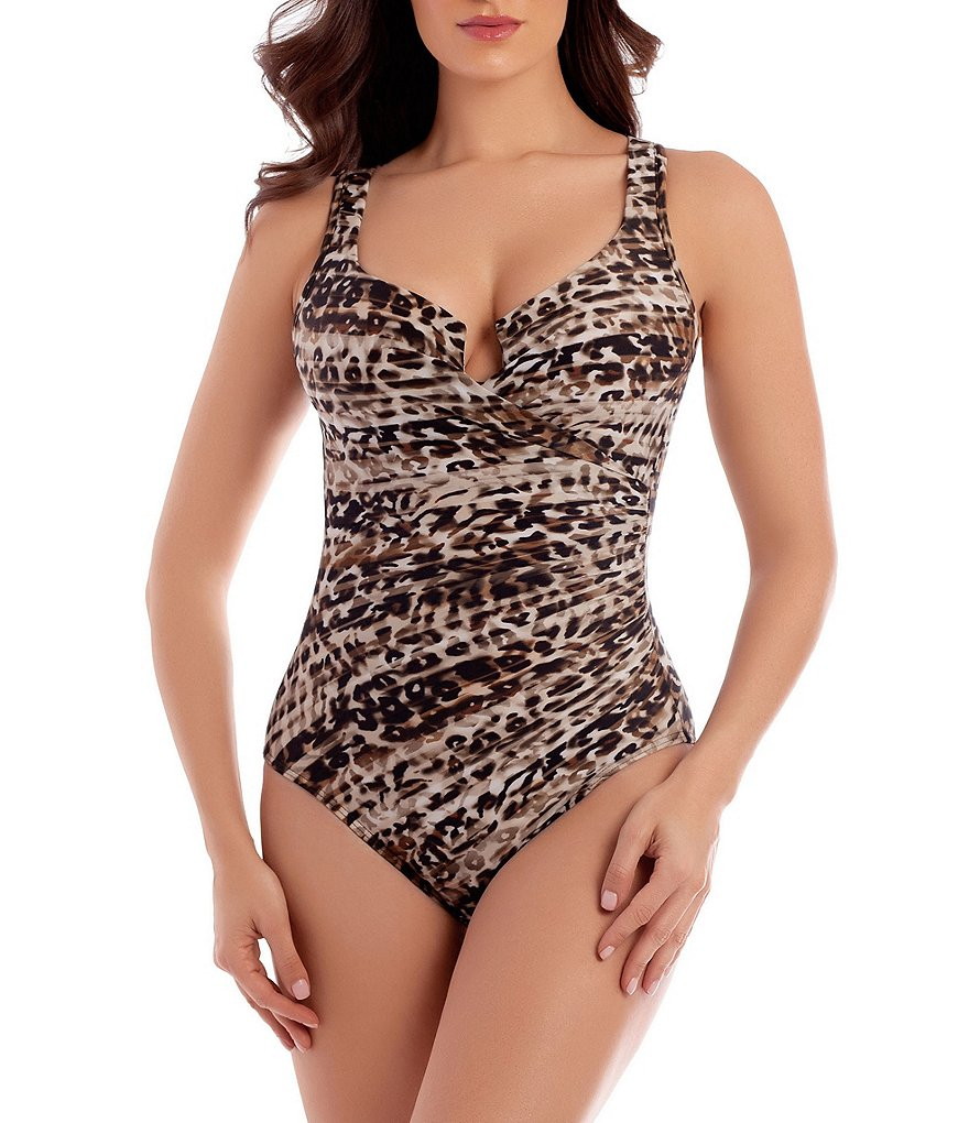 Miraclesuit Wild Side Escape Underwire Enhancing One-Piece Swimsuit