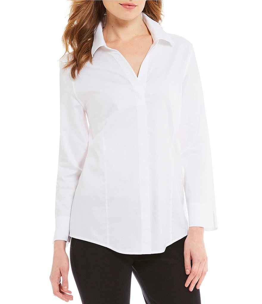 Misook Button-Front Shirt