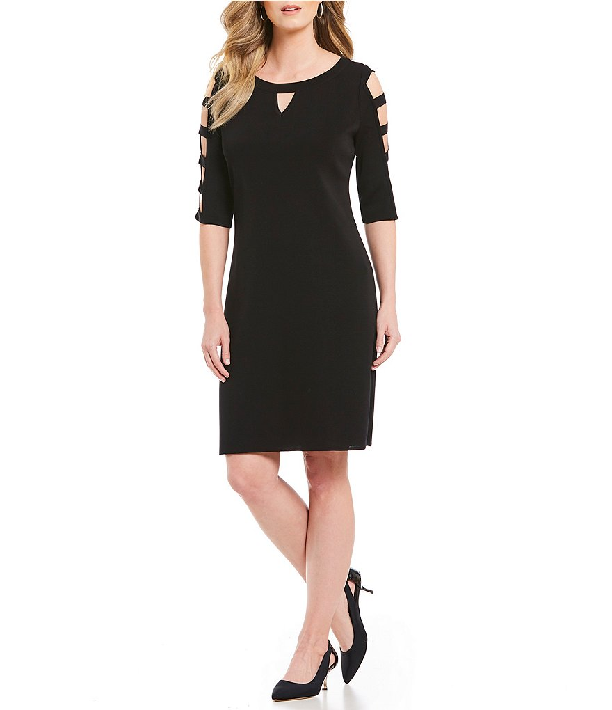 Misook Cage Sleeve Dress