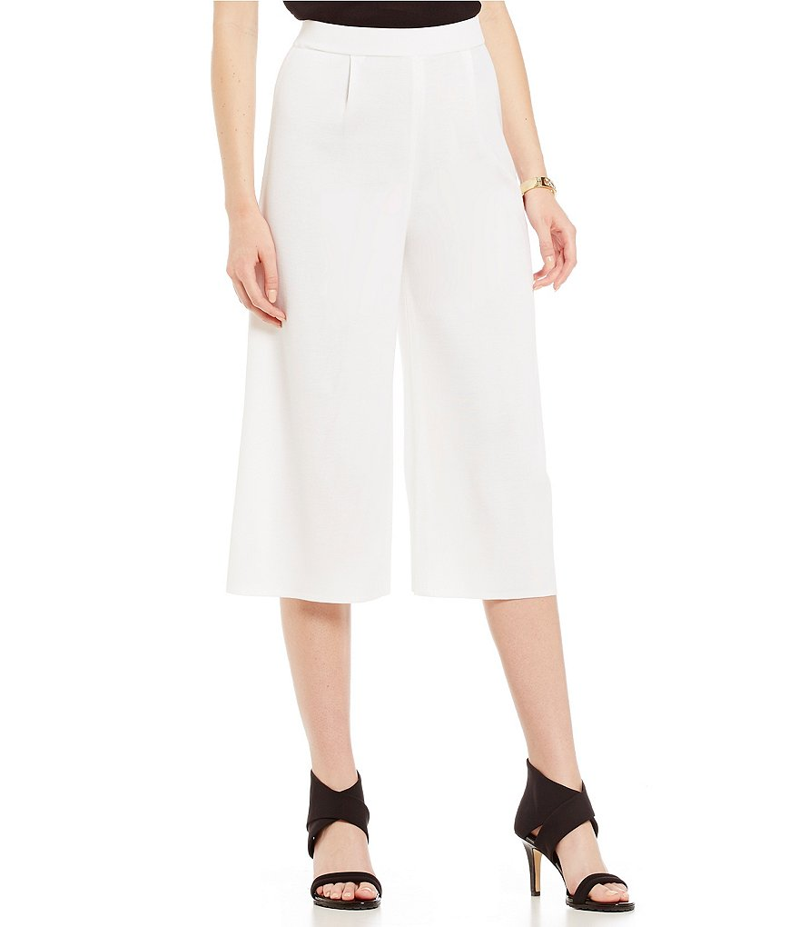 Misook Wide Leg Crop Pants