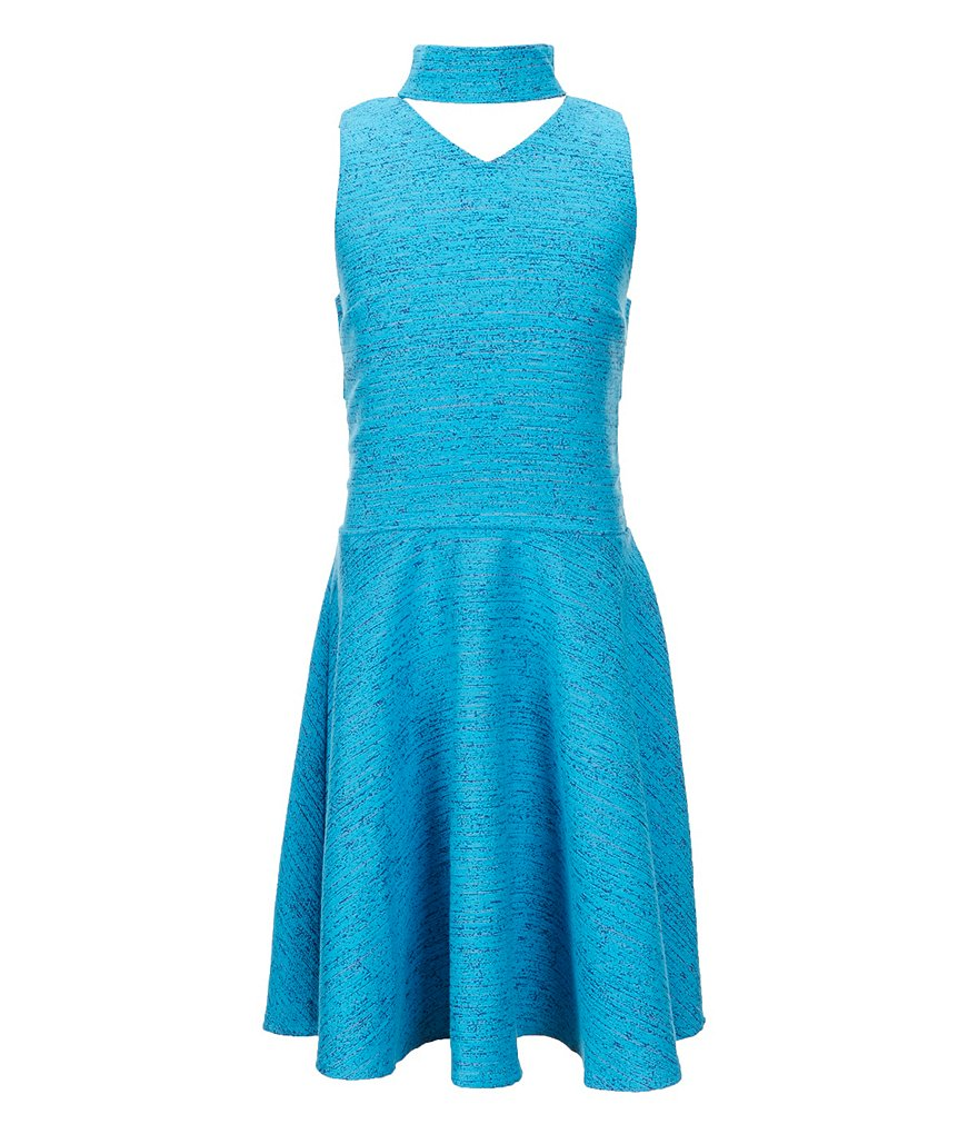 Miss Behave Big Girls 8-16 Ariana Mock-Neck Cut Out Dress