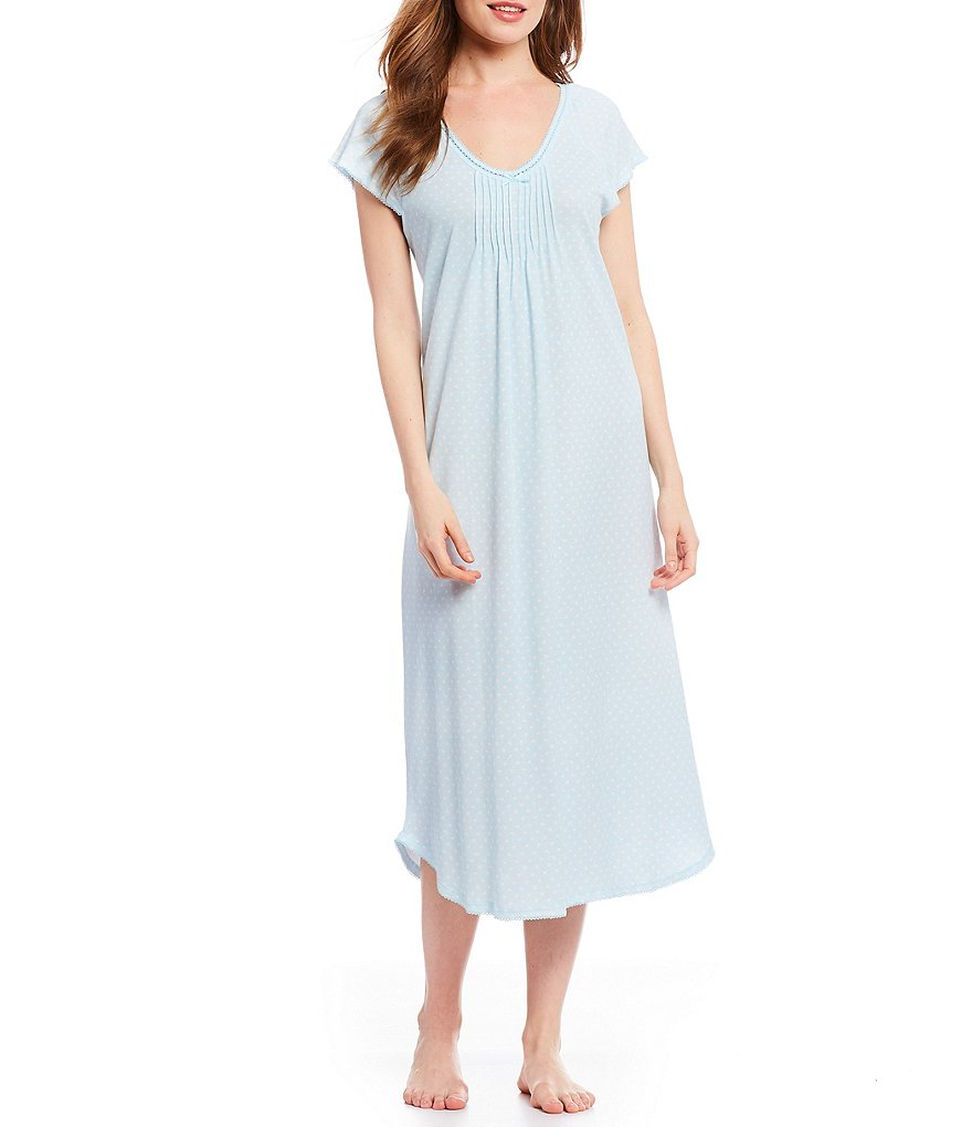 Miss Elaine Cottonessa Foulard Long Nightgown