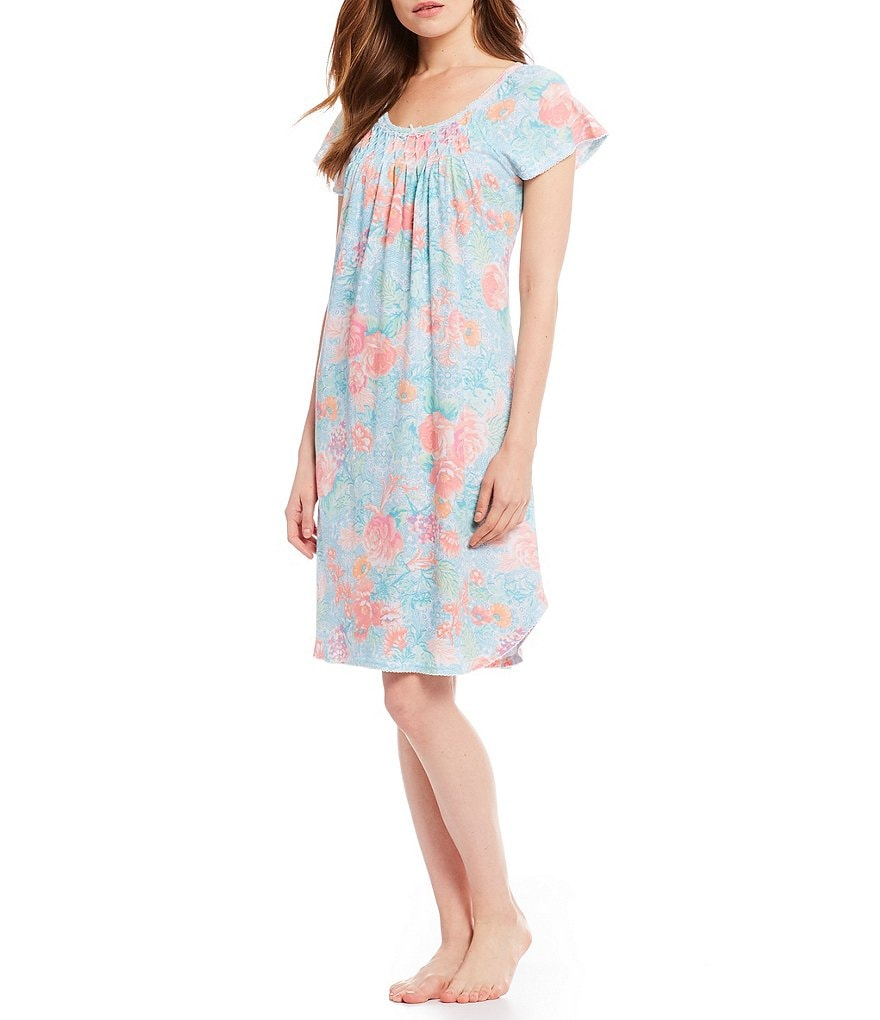 Miss Elaine Petite Cottonessa Floral & Filigree Nightgown