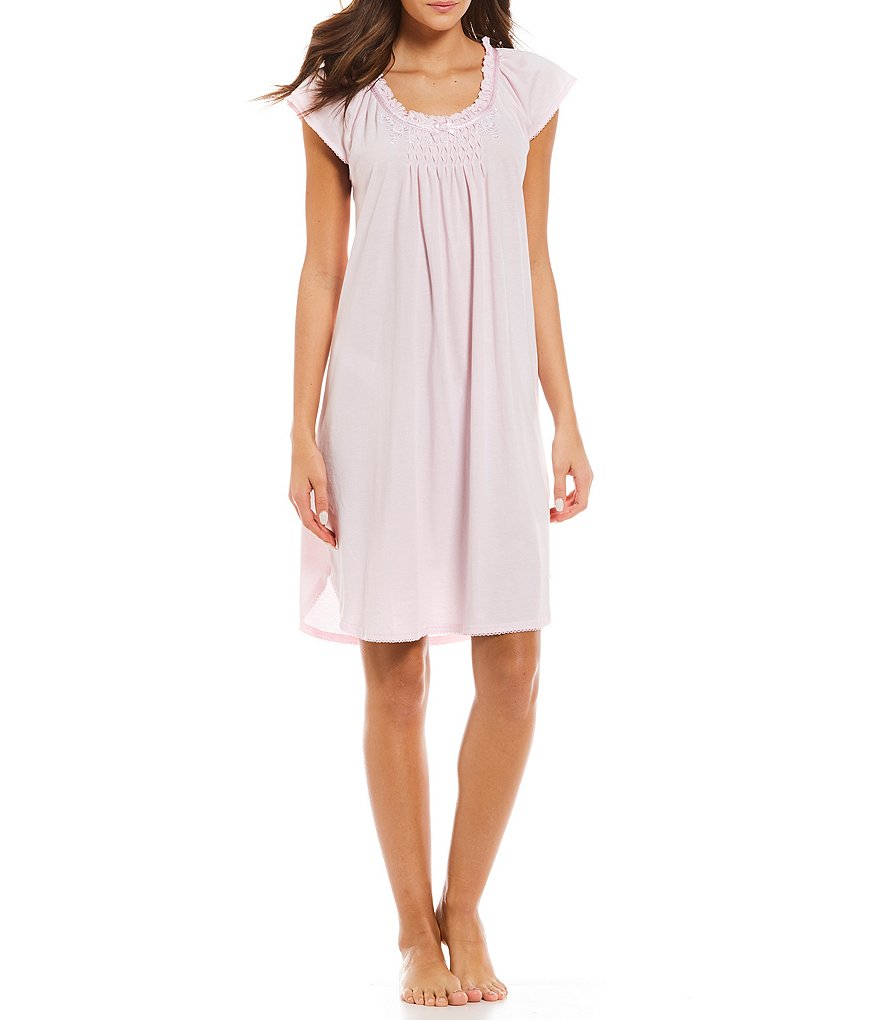 Miss Elaine Silkyknit Solid Nightgown
