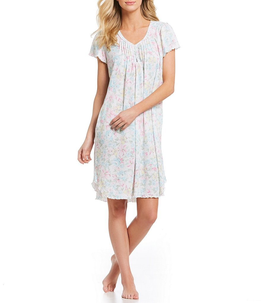 Miss Elaine Watercolor Floral Sofiknit Nightgown