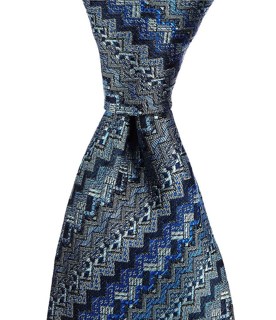 Missoni Chevron-Striped Traditional Silk Tie