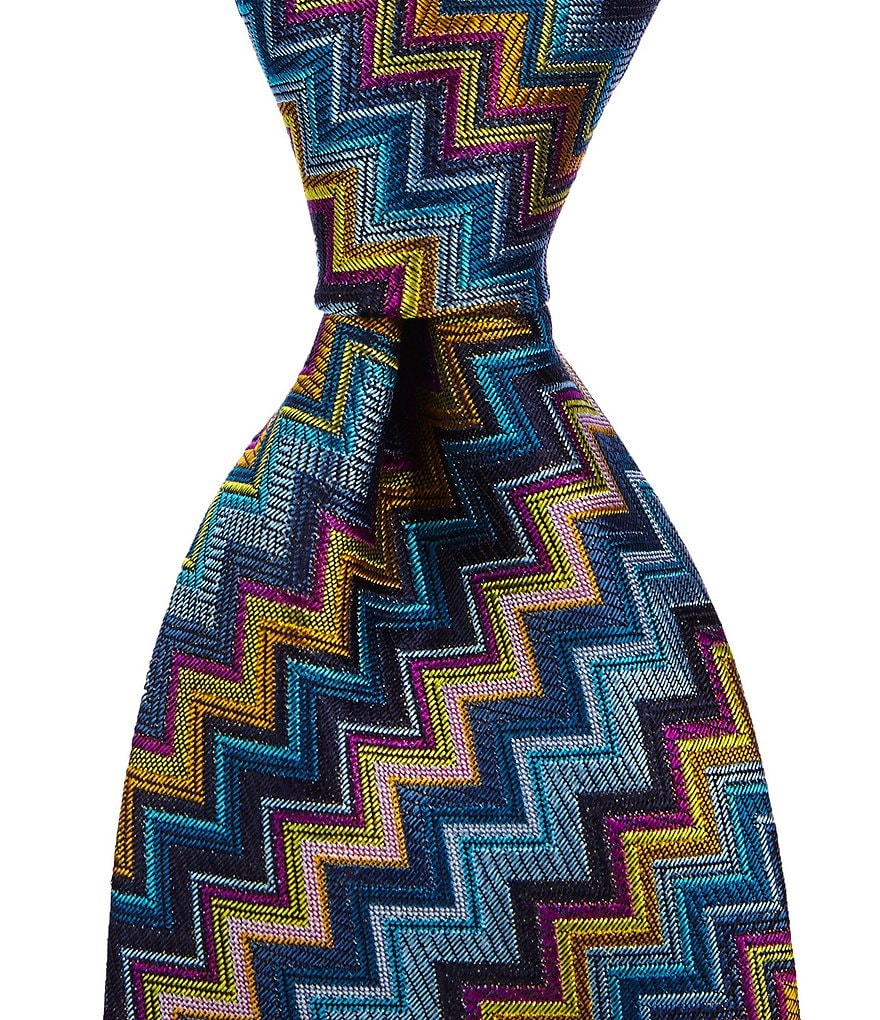 Missoni Chevron Traditional Silk Tie