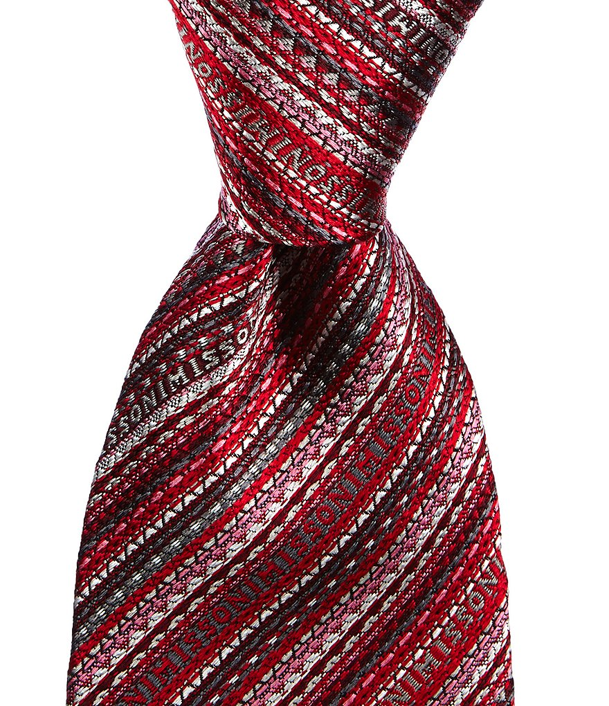 Missoni Logo-Striped Traditional Silk Tie