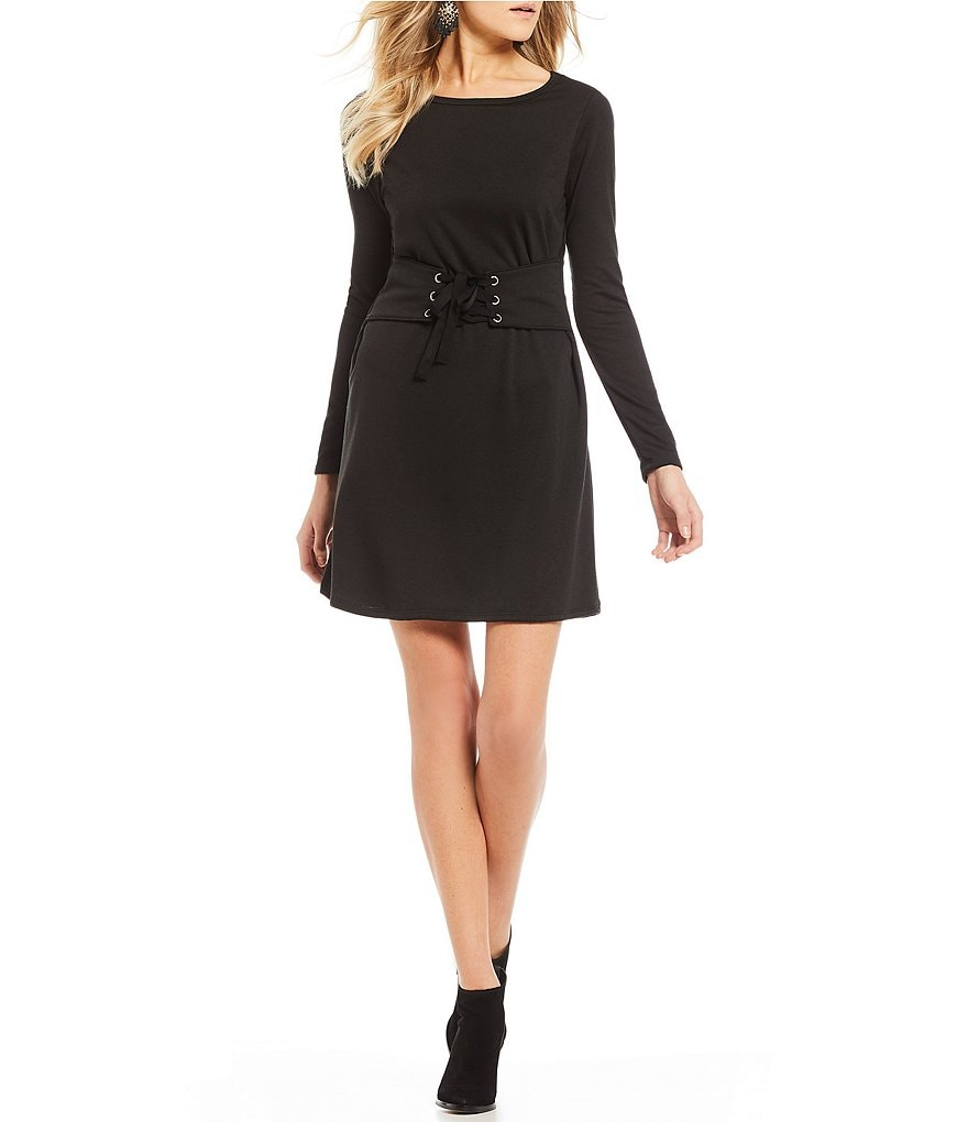 Moa Moa Corset Long Sleeve Dress