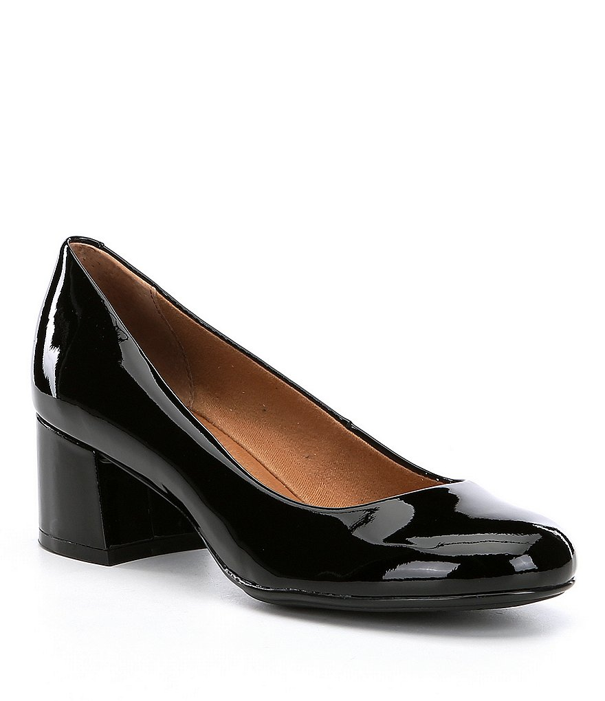 Montana Denton Patent Leather Block Heel Pumps