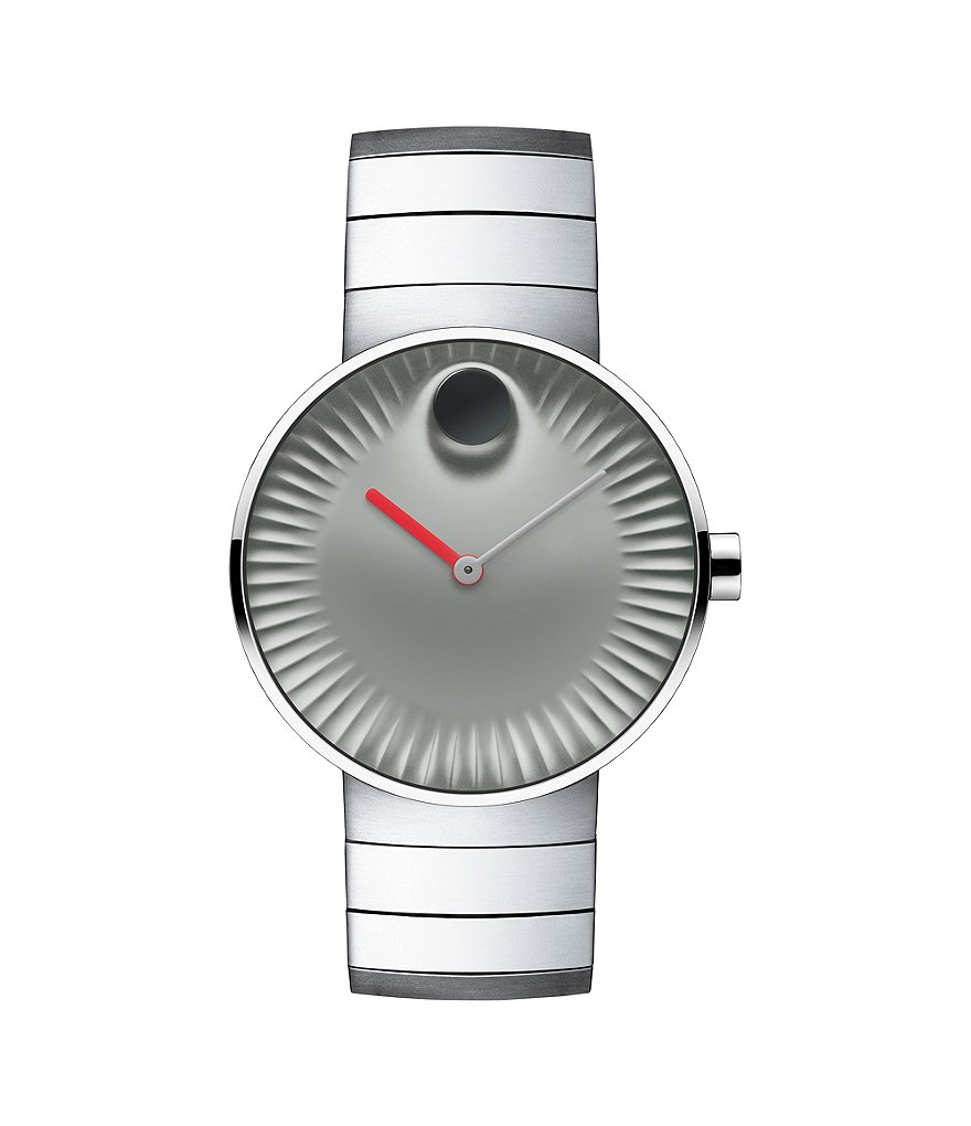 Movado Bold Edge Gray Dial Stainless Steel Watch
