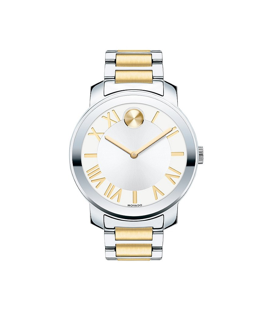 Movado Bold Luxe Two-Tone Analog Watch with Roman Numeral Dial