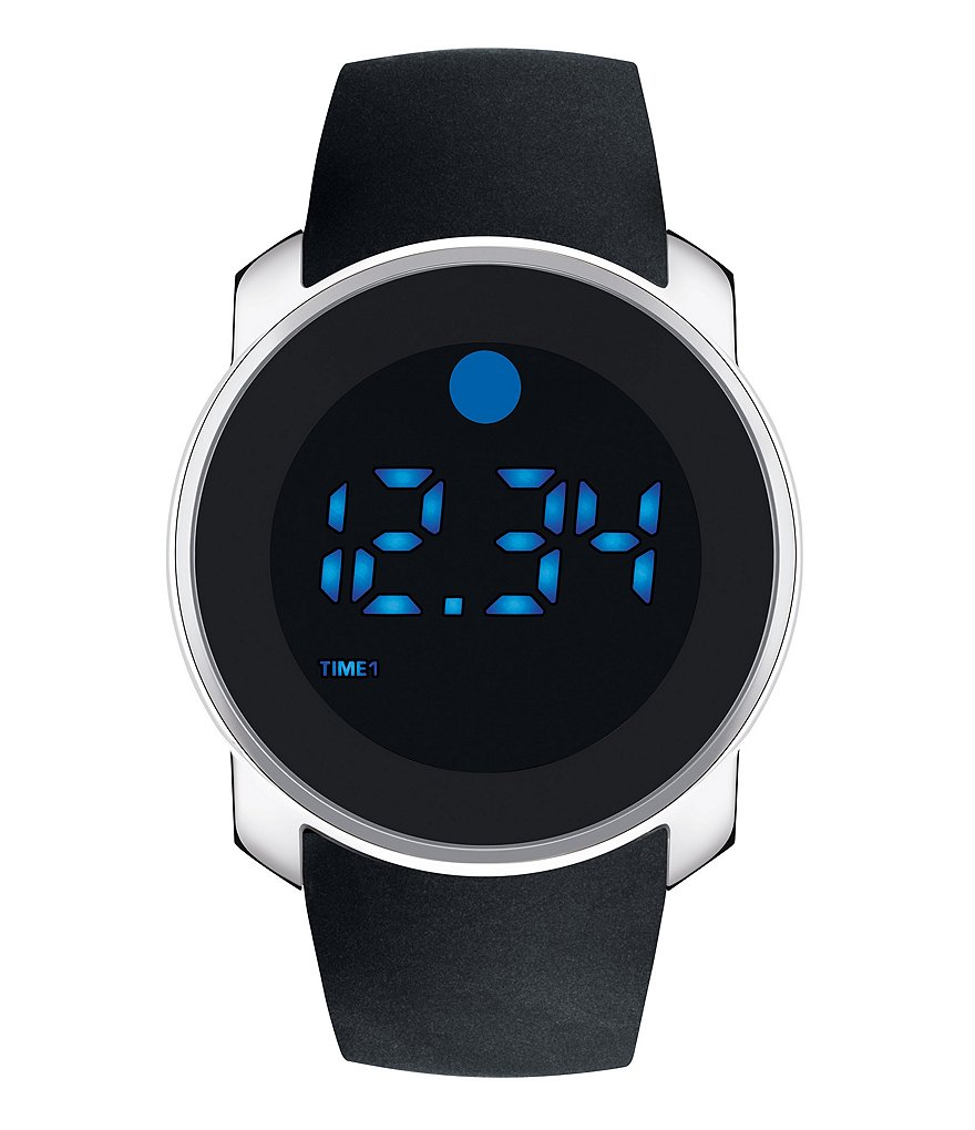 Movado Bold Touch Dual-Time Digital Watch
