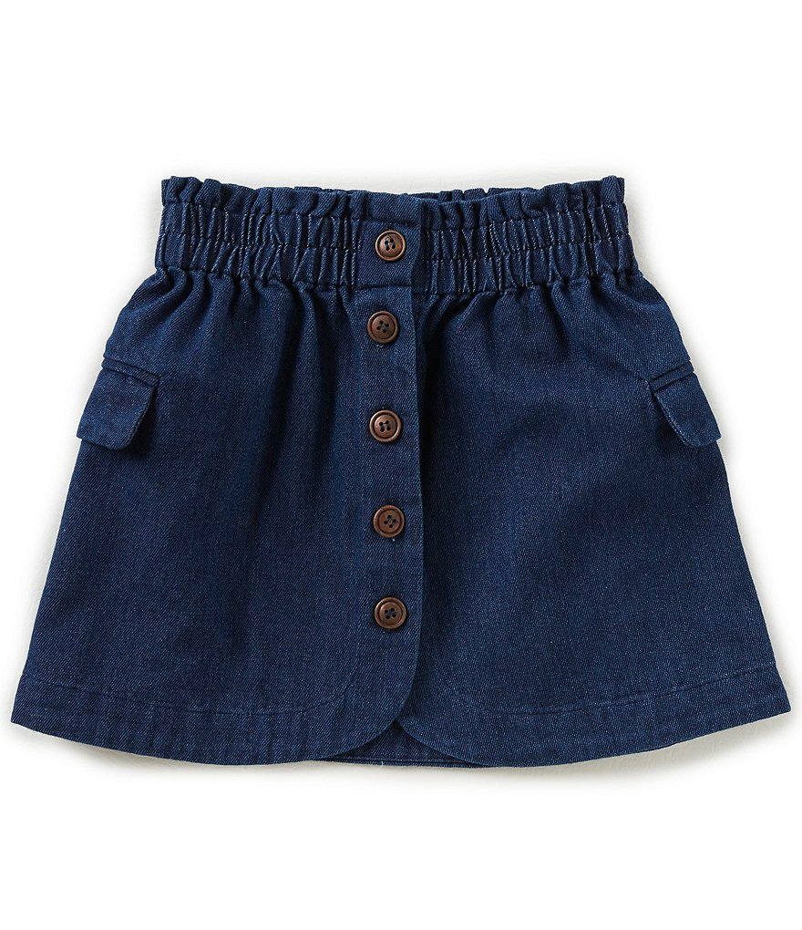 Mo:Vint Big Girls 7-16 Button-Front Denim Skirt