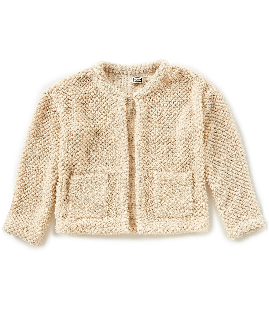Mo:Vint Big Girls 7-16 Elbow-Patch Cardigan Sweater