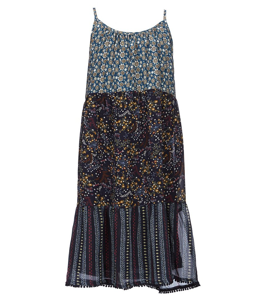 Mo:Vint Big Girls 7-16 Floral-Print Peasant Dress