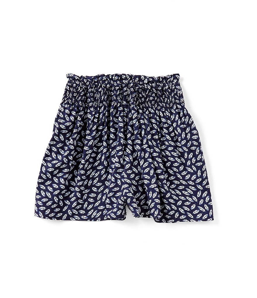 Mo:Vint Big Girls 7-16 Leaf-Print Shorts