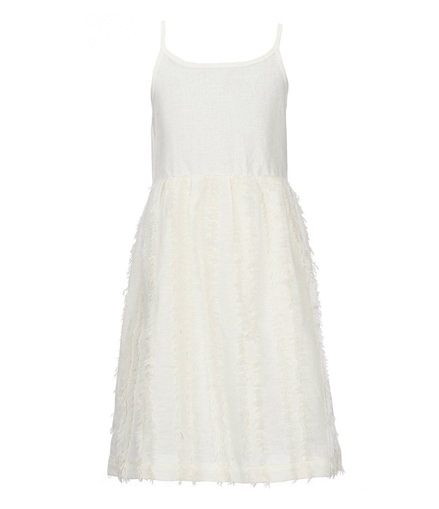 Mo:Vint Big Girls 7-16 Sleeveless Fringe-Striped Dress