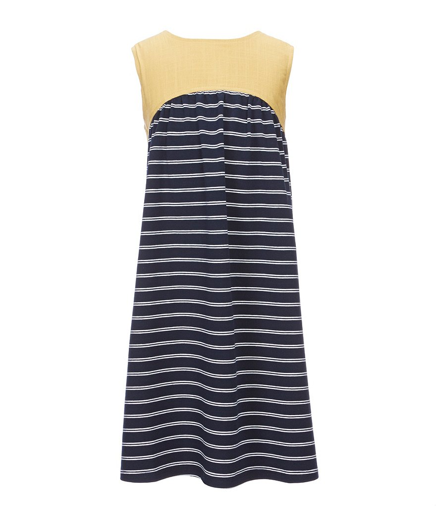 Mo:Vint Big Girls 7-16 Sleeveless Striped Dress