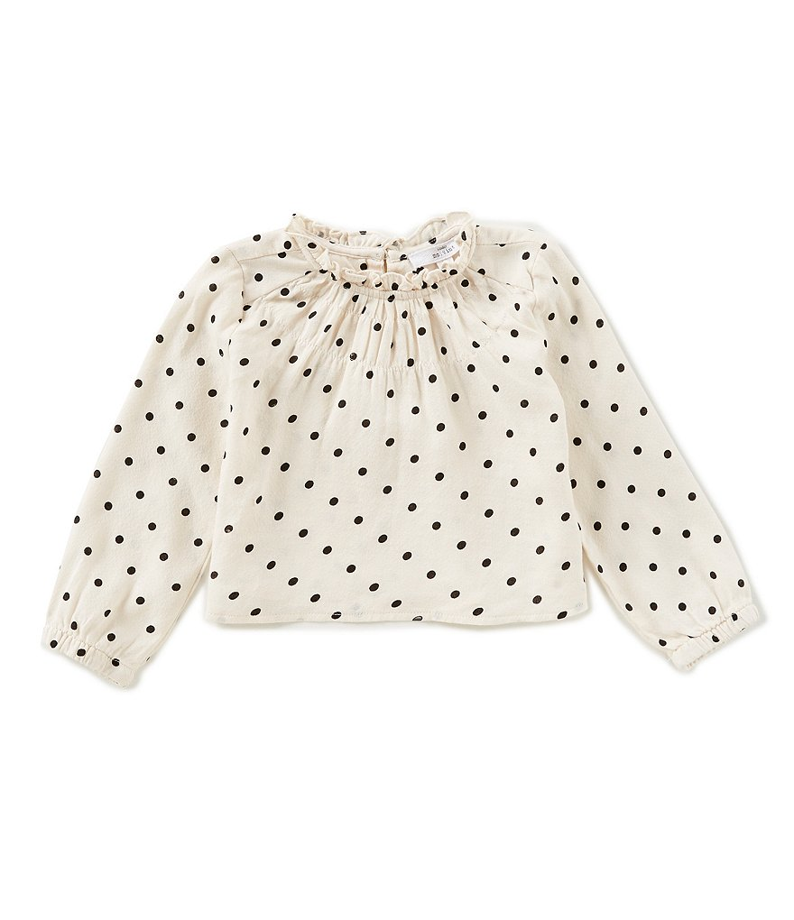 Mo:Vint Little Girls 2-6X Dotted Smocked Top