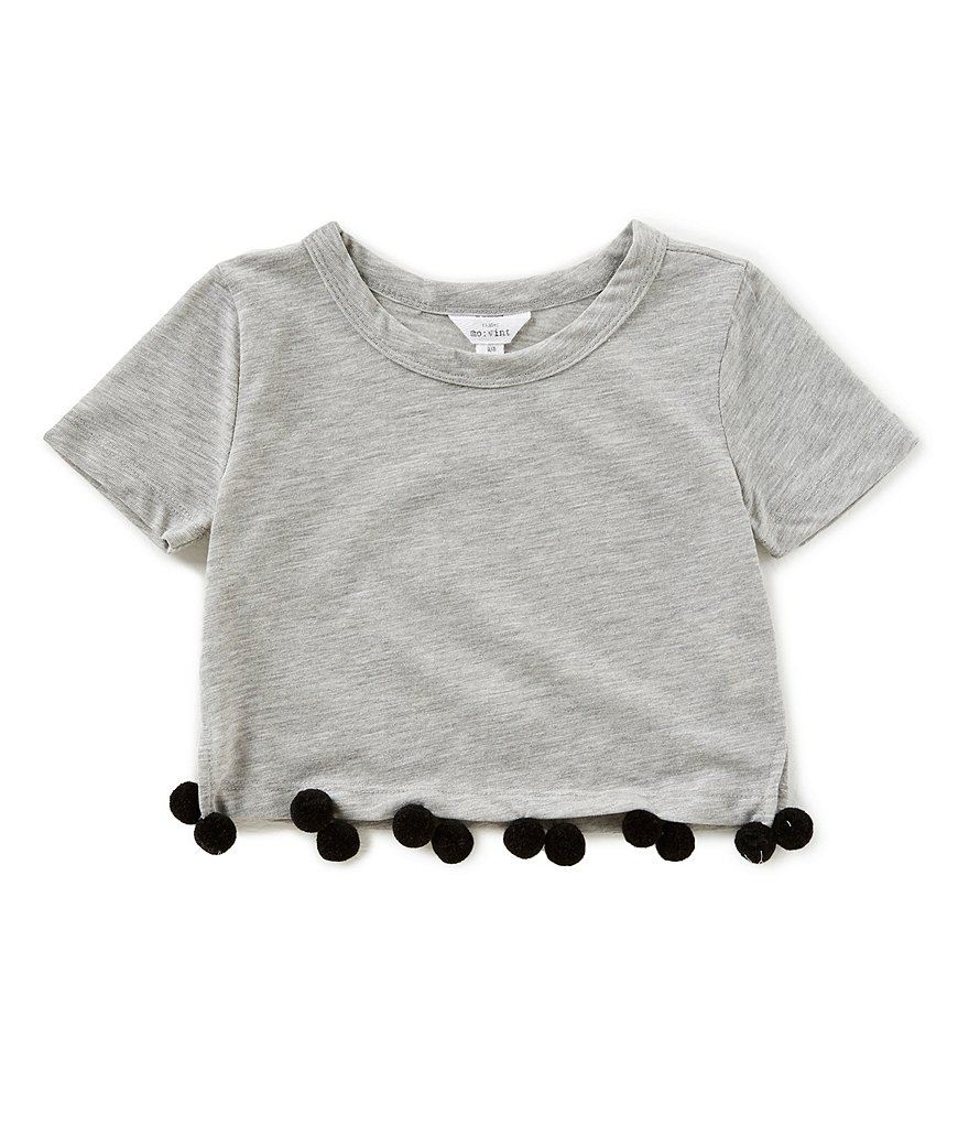 Mo:Vint Little Girls 2-6X Pom-Trim Knit Top